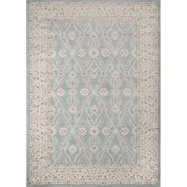 Phoebe Blue Area Rug by Charlton Home