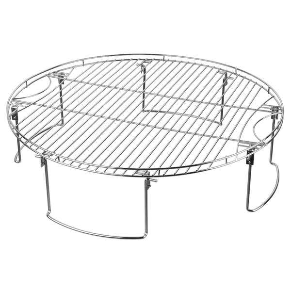 Large Round Cooking Grate with Folding Legs by Mr. Bar-B-Q