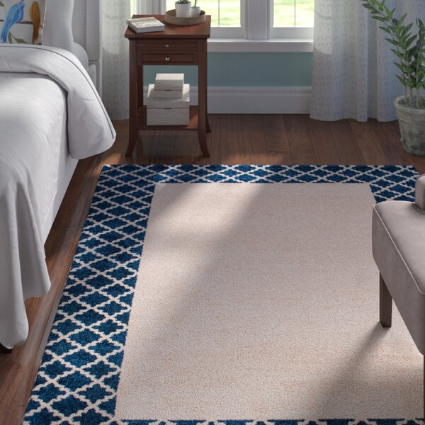 Biggsville Ivory/Blue Area Rug by Andover Mills