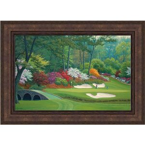 12 Hole at Augusta National by Charles White Framed Graphic Art by Hadley House Co