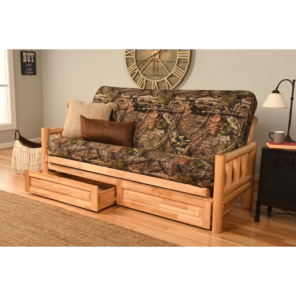 Warlo Full Loose Back Futon And Mattress By Millwood Pines