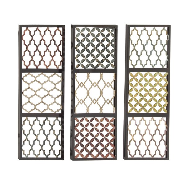 Priceless Metal Wall Décor Set (Set of 3) by Bungalow Rose