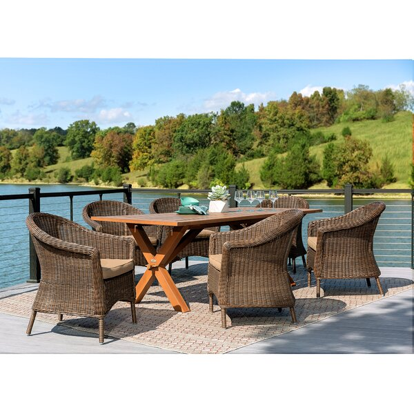Cumberland 7 Piece Dining Set with Sunbrella Cushions by La-Z-Boy Outdoor
