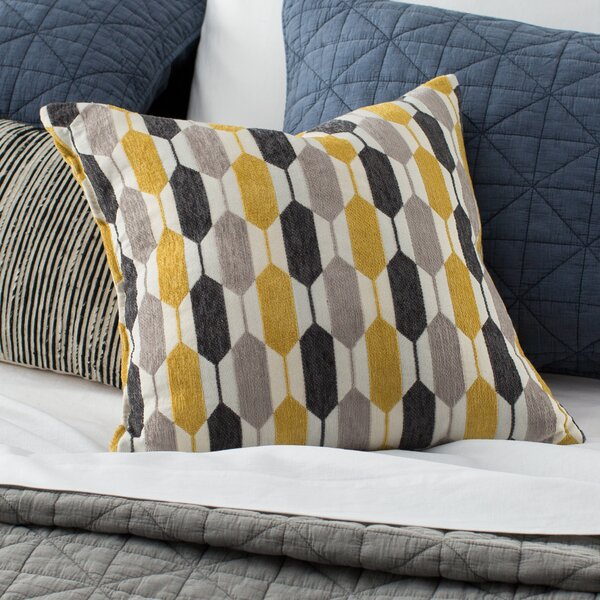 Canyon Creek Hexagon Throw Pillow by Mercury Row
