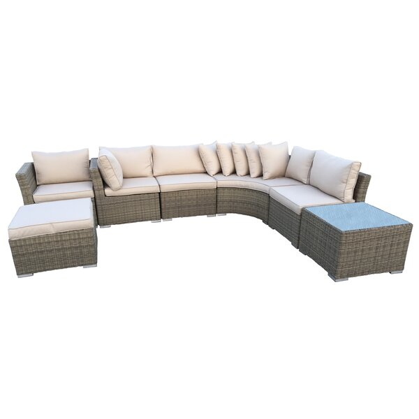 Borneo 7 Piece Sectional Set with Cushions by Oakland Living Oakland Living