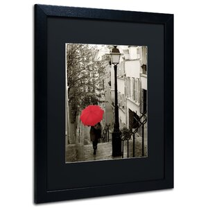 'Paris Stroll' by Sue Schlabach Framed Photographic Print by Trademark Fine Art