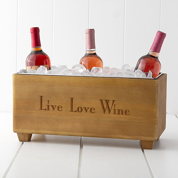 Live Love Wine Wooden Wine Trough by Cathys Concepts
