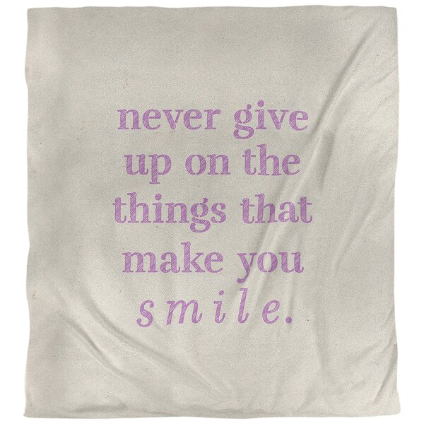 Joy & Perseverance Quote Single Duvet Cover