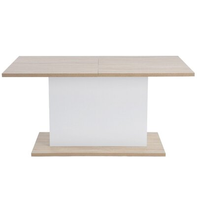 Corrigan Studio Lomba Extendable Dining Table  Table Top Color: Oak/White