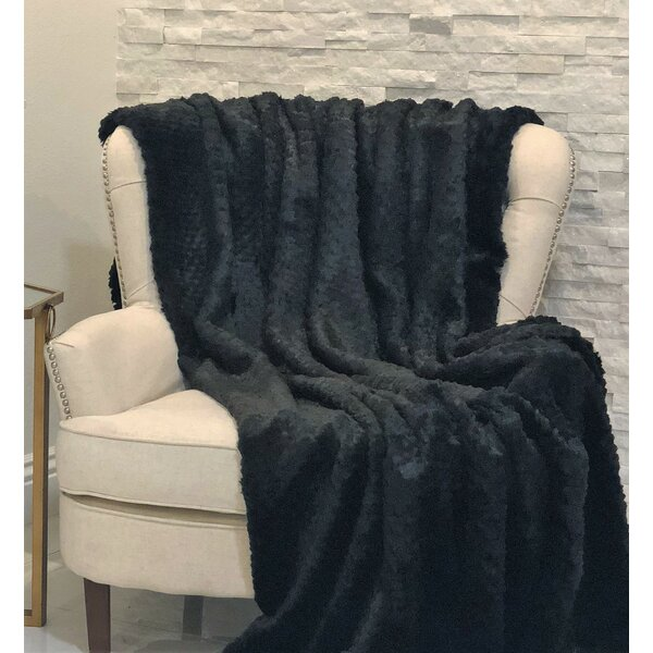 Colden Mink Faux Fur Blanket by Foundry Select