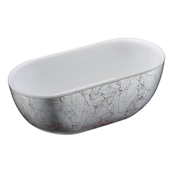 Knight Series 72.05'' x 34.06'' Freestanding Soaking Bathtub by ANZZI
