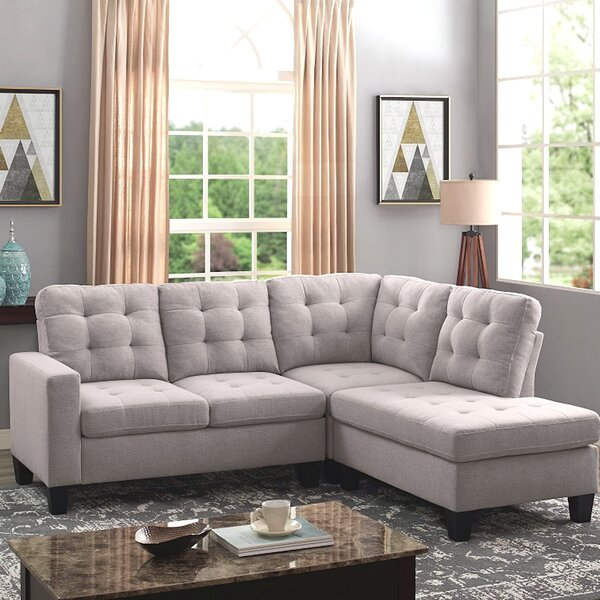 Stead Reversible Sectional By Ebern Designs Savings