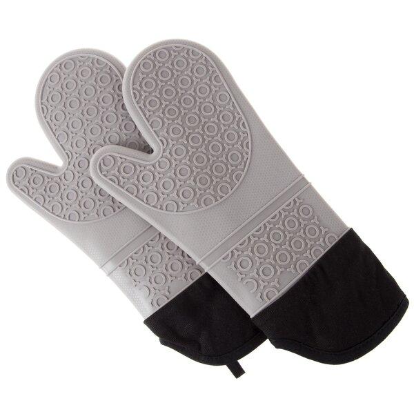 2 Pieces Oven Mitt Set by Lavish Home