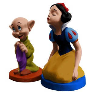 Disney Snow White Sculpted Ceramic 2-Piece Salt and Pepper Set ByVandor LLC