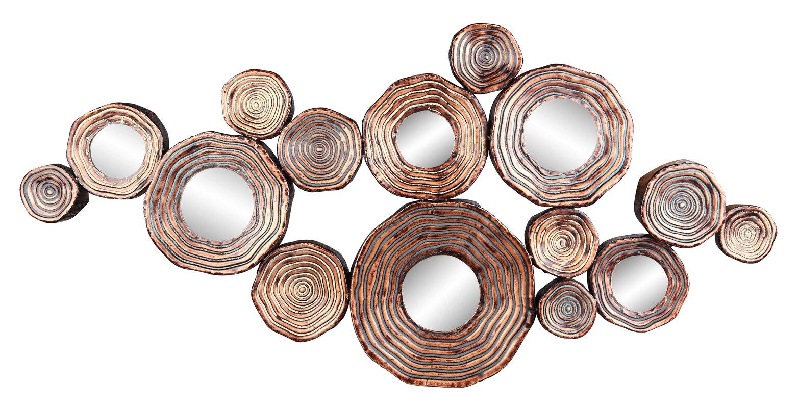 Circle Metal and Mirror Cluster Wall Decor & Reviews | AllModern