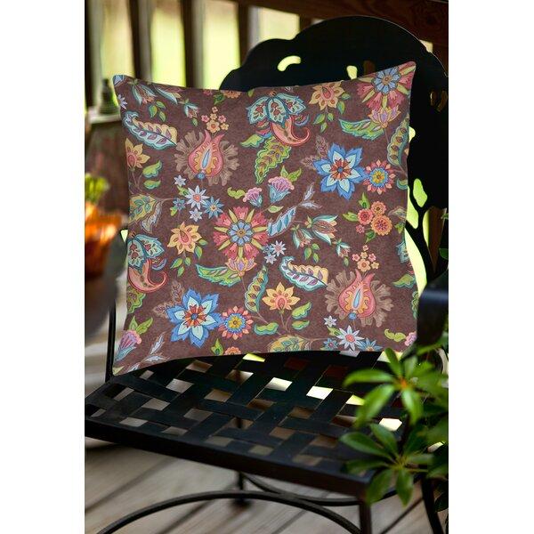 Shangri La Floral Indoor/Outdoor Throw Pillow by Manual Woodworkers & Weavers