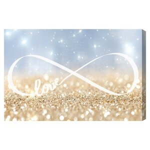 Infinite Love Sign Graphic Art on Canvas by Mercer41