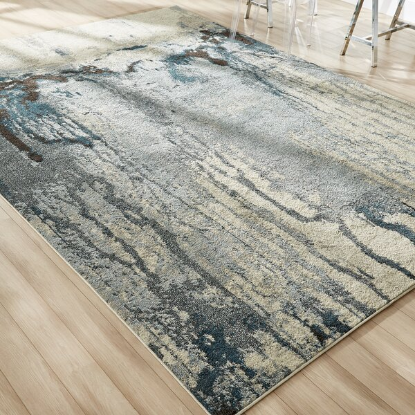 Brister Light Blue Area Rug by Mercury Row