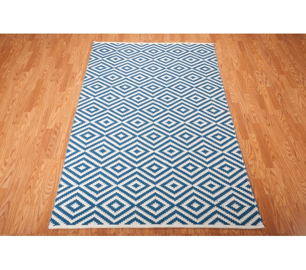 Broward Hand-Woven Navy Area Rug by Langley Street