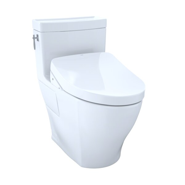 Aimes 1.28 GPF Elongated One-Piece Toilet with Ewater+ by Toto