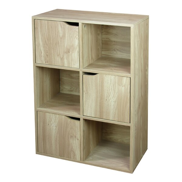 Wood Storage 6 Cube Bookcase by Home Basics