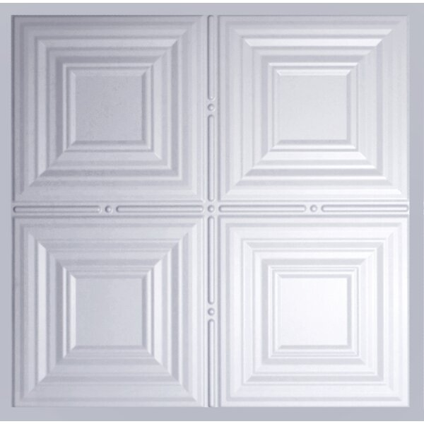 2 Ft X 2 Ft Lay In Ceiling Tile In Matte White Set Of 5 By Global Specialty Products.