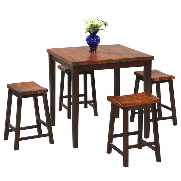 Weitzel 5 Piece Solid Wood Dining Set By Red Barrel Studio
