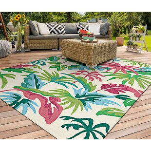 Wallingford Hand-Hooked Green/Red Area Rug by Bay Isle Home