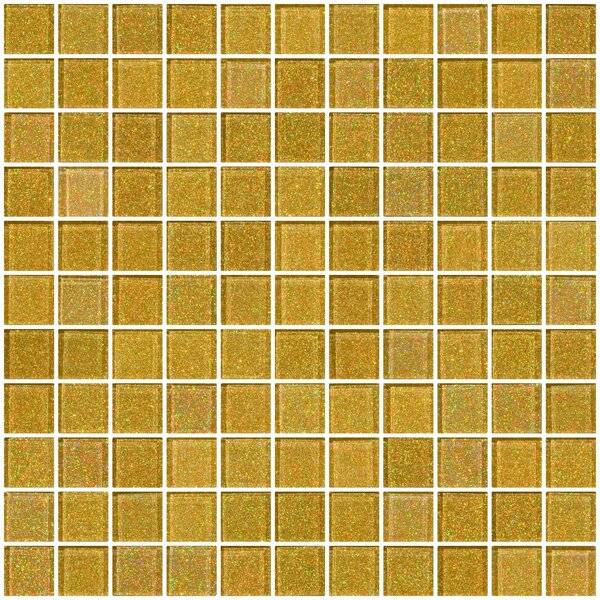 1 x 1 Glass Mosaic Tile in Soft Gold by Susan Jablon