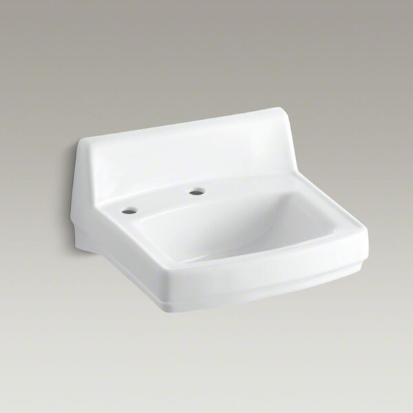 Greenwich Ceramic 21 Wall Mount Bathroom Sink with Overflow by Kohler