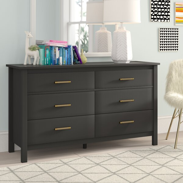 Valeria 6 Drawer Double Dresser by Trule Teen