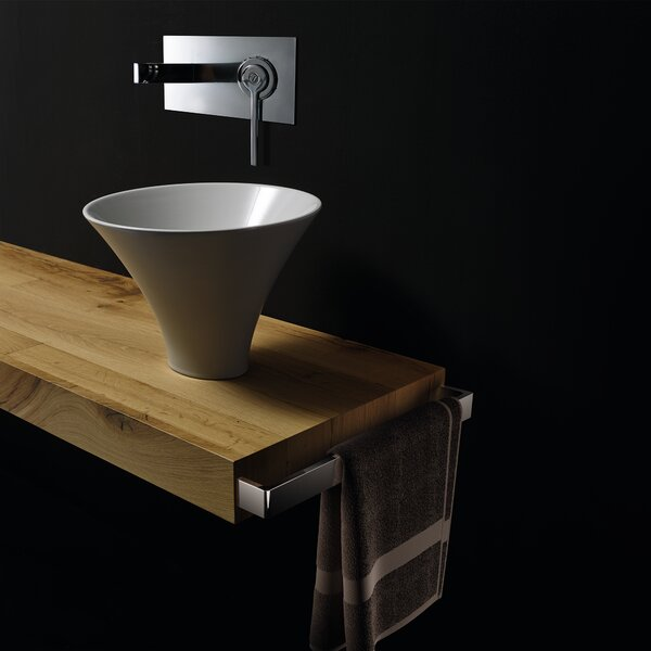 Deco Ceramic Circular Vessel Bathroom Sink by WS Bath Collections