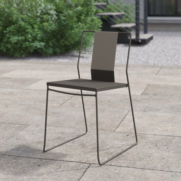 Gilligan Stacking Patio Dining Chair by Foundstone
