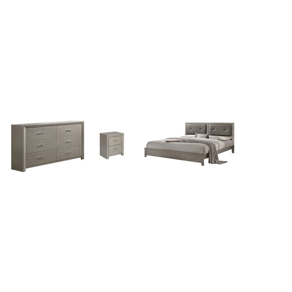Trudeau Standard 3 Piece Bedroom Set by Mercer41