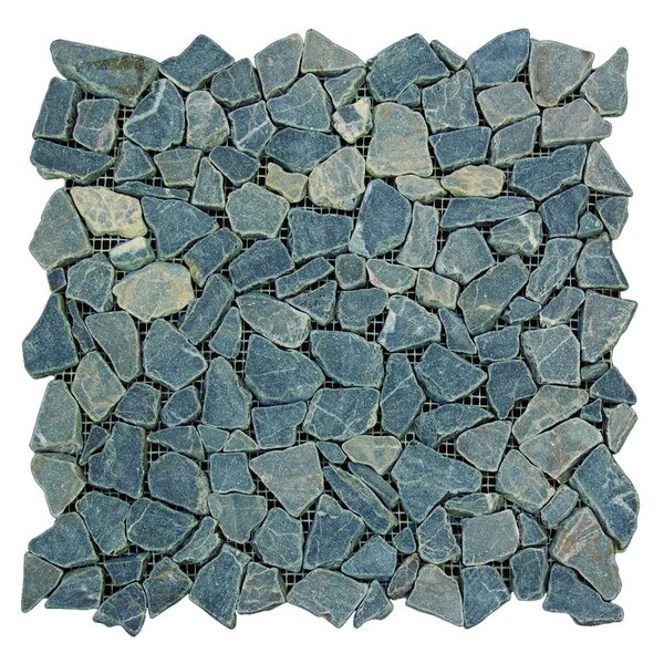 Mojave Random Sized Natural Stone Mosaic Tile in Green by FuStone