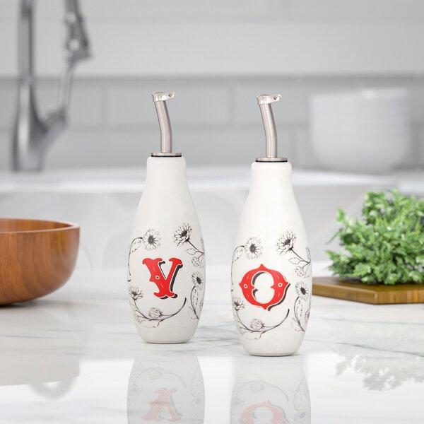 2 Piece Ceramic Bottle Set by Gracie Oaks