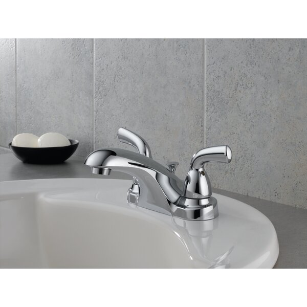 Foundations Centerset Bathroom Faucet with Drain Assembly and Diamond Seal Technology by Delta
