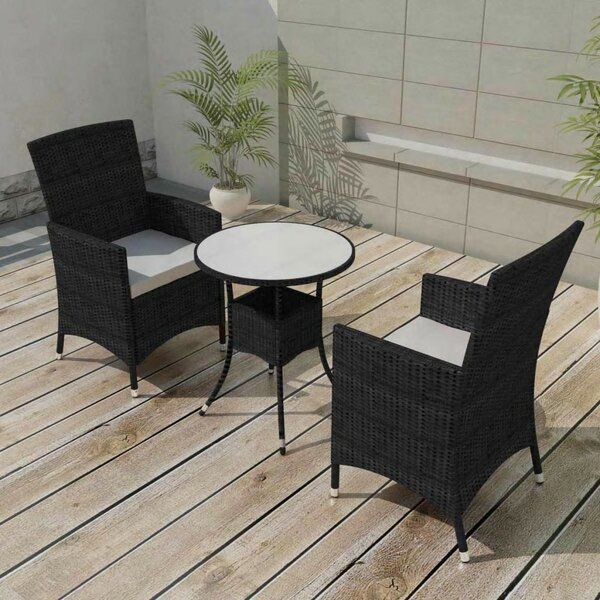 Kwon Garden 3 Piece Dining Set with Cushions by Brayden Studio