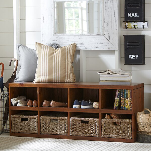 Sassa Wood Cubby Storage Bench by Birch Lane Heritage Birch Lane™ Heritage
