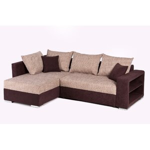 ecksofa mit recamiere farbe braun. Black Bedroom Furniture Sets. Home Design Ideas