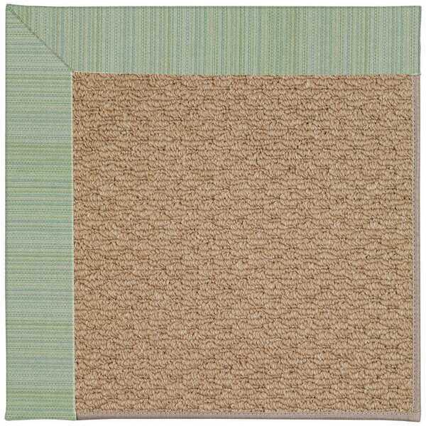 Lisle Machine Woven Green/Brown Indoor/Outdoor Area Rug by Longshore Tides