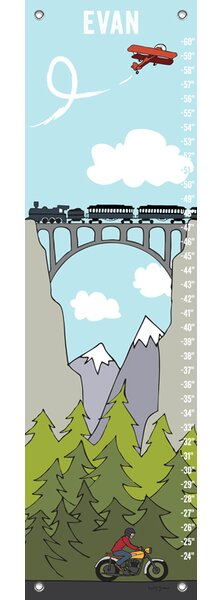 Hawkesbury Common Journey On by Katy Yeaw Canvas Growth Chart by Zoomie Kids
