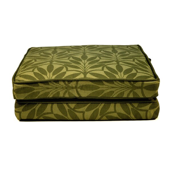 Boxed and Welted Floral Indoor/Outdoor Dining Chair Cushion (Set of 2) by Wildon Home ®