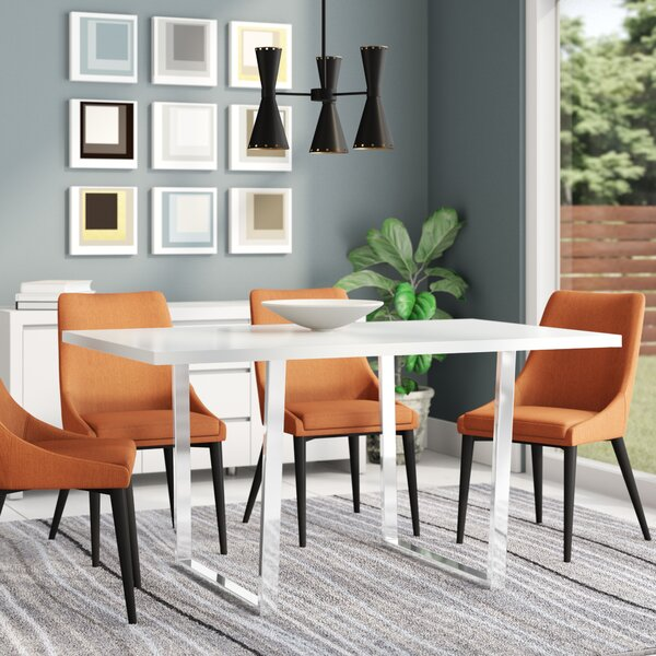 Dacian Metal Dining Table by Latitude Run