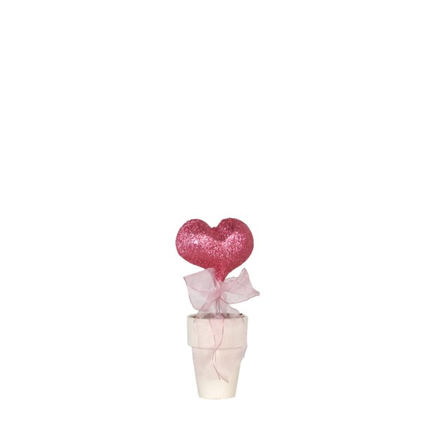 Glitter Heart in Pot Sculpture by Fantastic Craft