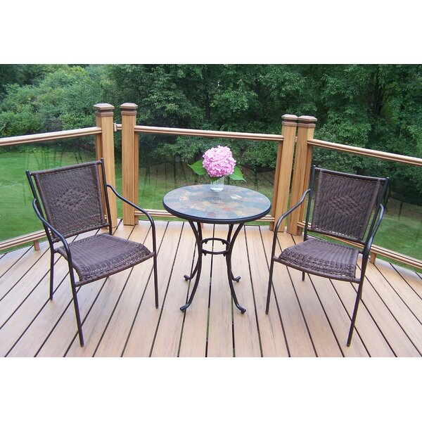 Neche 3 Piece Bistro Set