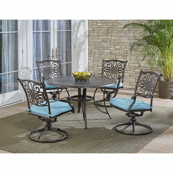 Robicheaux 5 Piece Dining Set with Cushions
