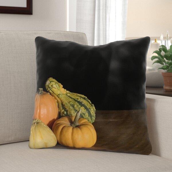 Harbaugh Pumpkin Indoor/Outdoor Throw Pillow