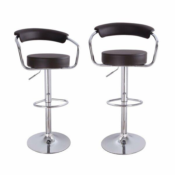 Konivetska Adjustable Height Swivel Bar Stool (Set of 2) by Ebern Designs