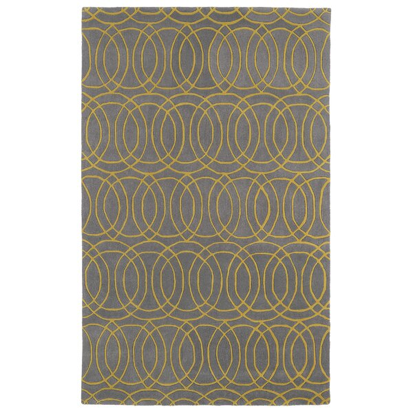 Molly Hand-Tufted Yellow/Gray Area Rug by Ivy Bronx